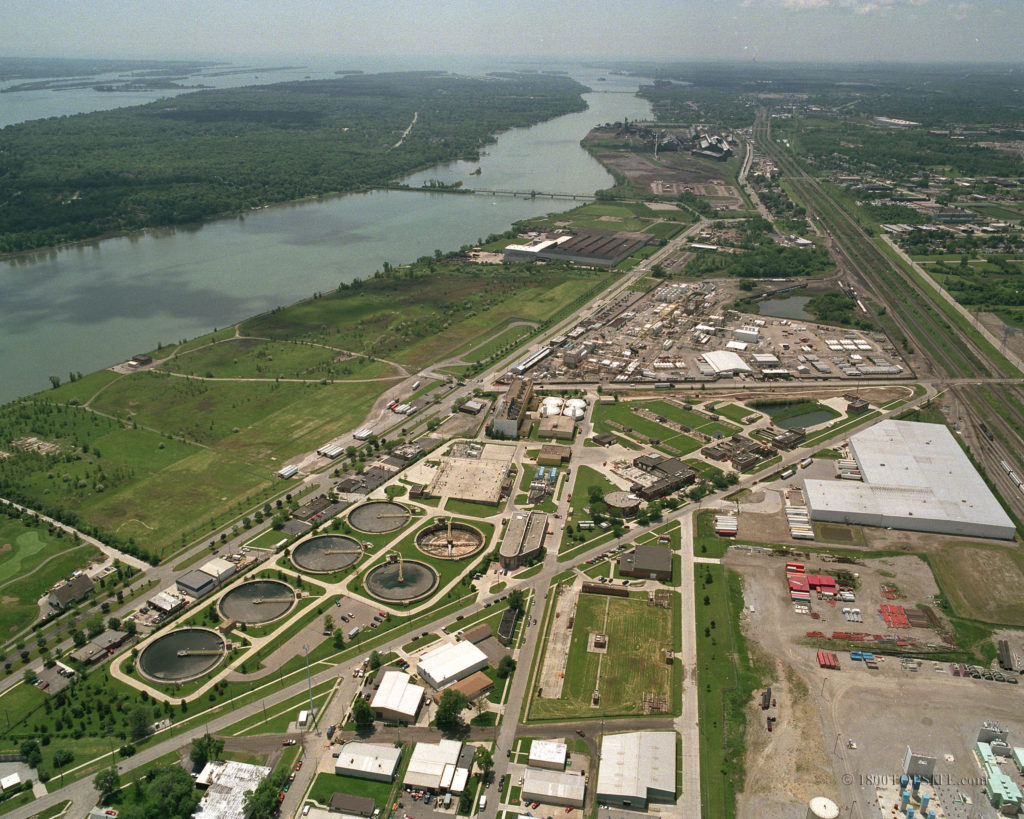 DUWA Aerial Photo of Treatment Plant in Wyandotte Michigan